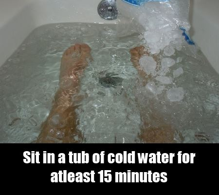 Sit In A Tub Of Cold Water