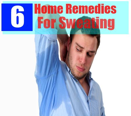 6 home remedies for sweating