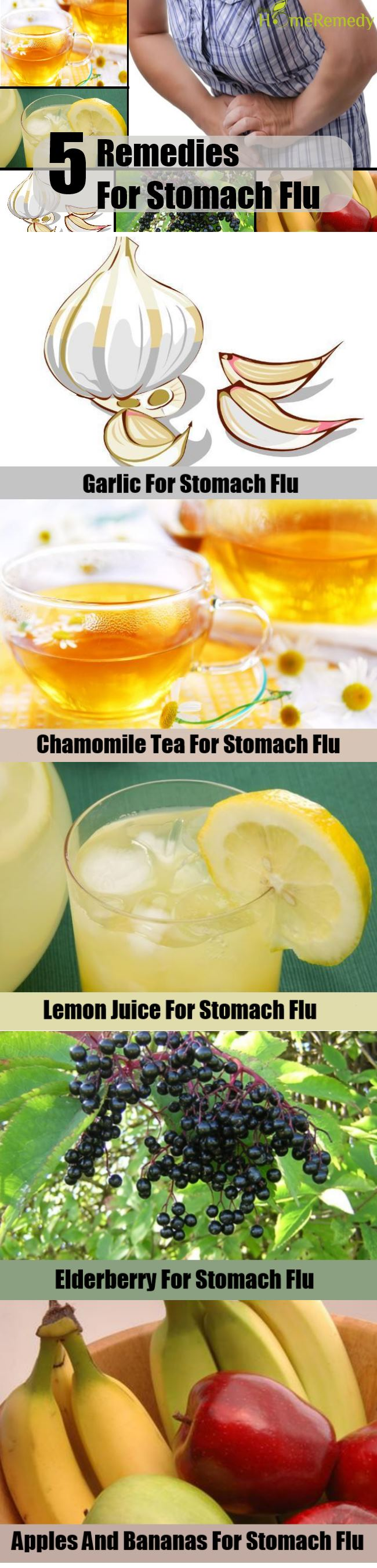 5 Remedies For Stomach Flu