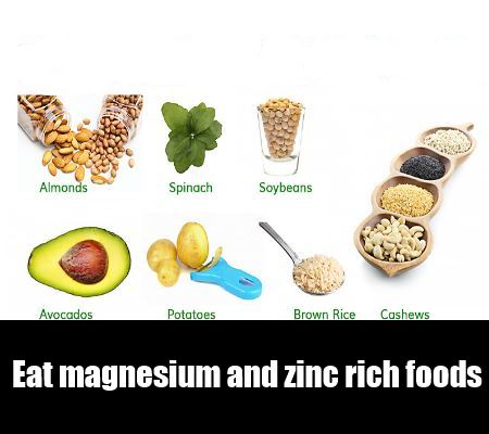 magnesium and zinc rich foods