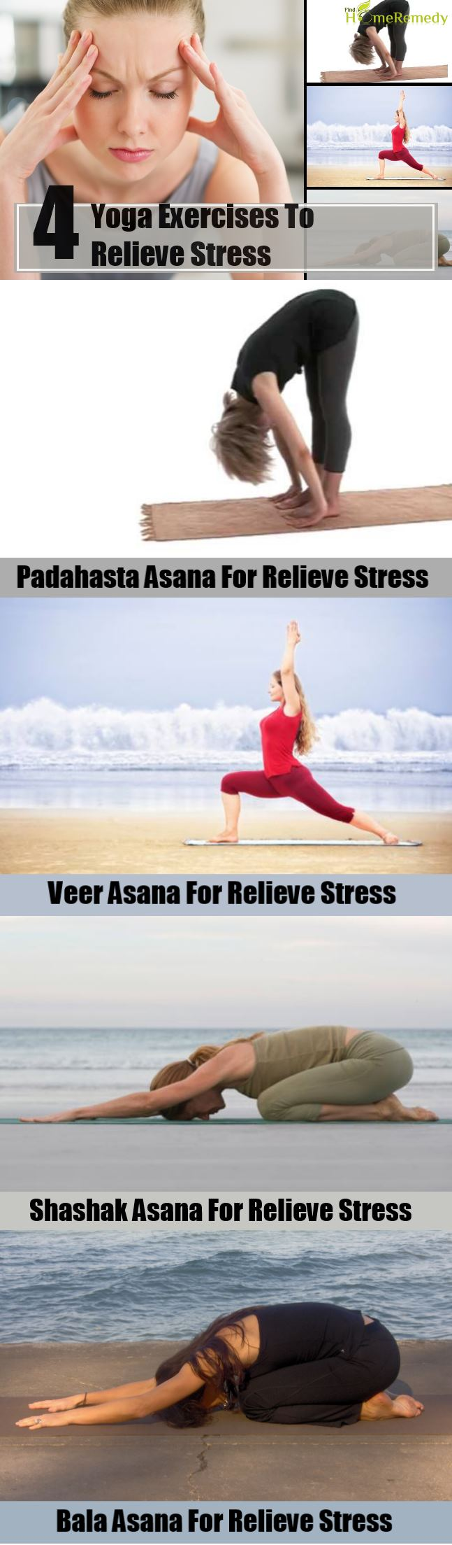 4 Yoga Exercises To Relieve Stress