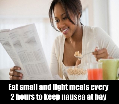 Eat small and light meal