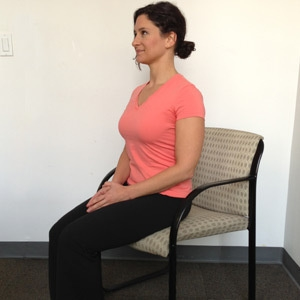 sit in a straight posture