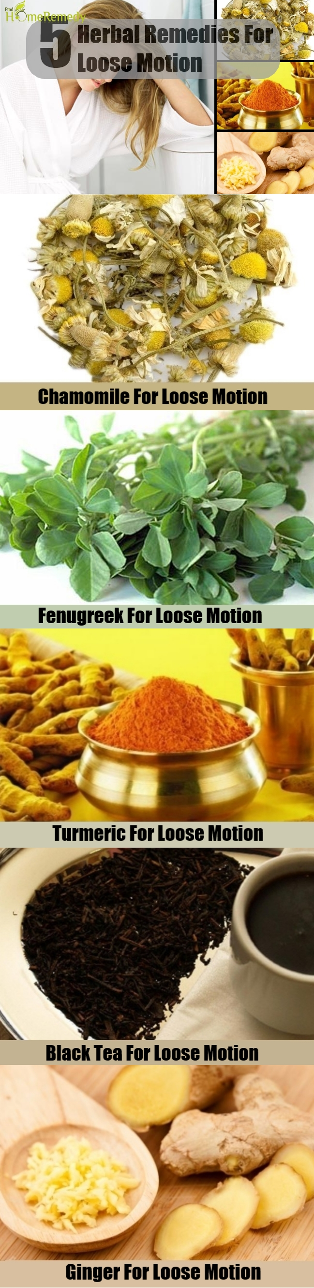 5 Herbal Remedies For Loose Motion