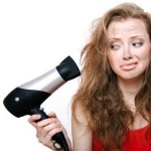 Avoid using hair dryer