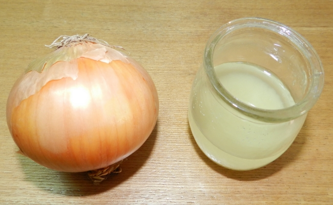 Onion Juice Treatment