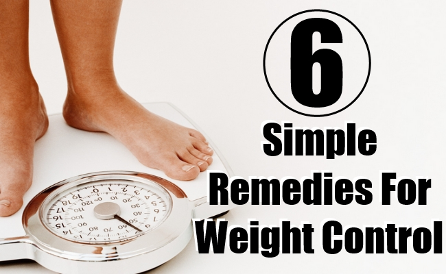 Simple Remedies For Weight Control