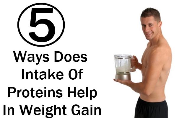 Proteins Help In Weight Gain