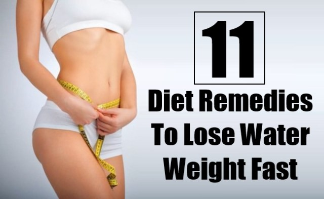 how lose water weight quickly