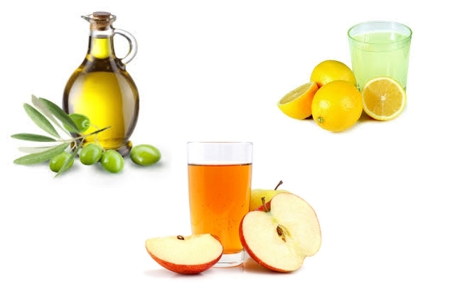 Lemon Juice, Olive Oil And Apple Cider Vinegar