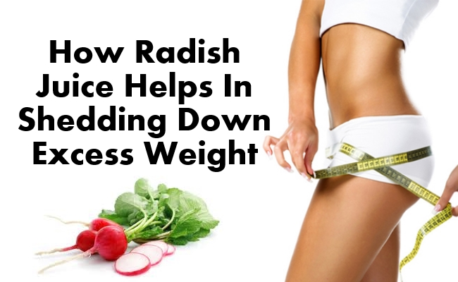 Radish Juice Helps In Shedding Down Excess Weight