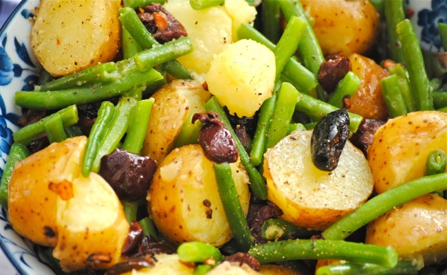 Green Bean With Marinated Potato