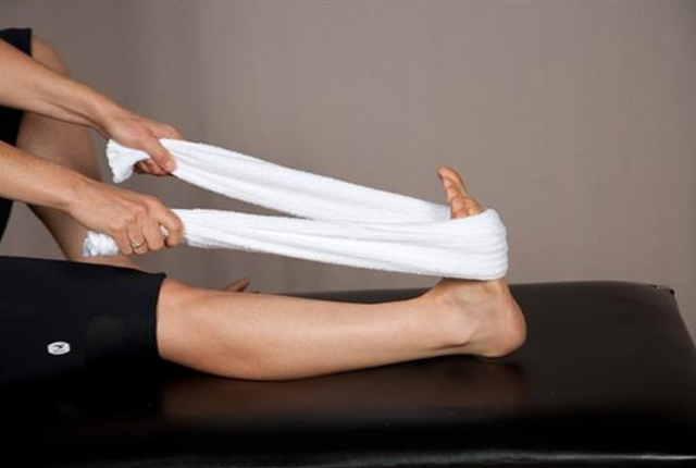 Feet Stretch With Towel