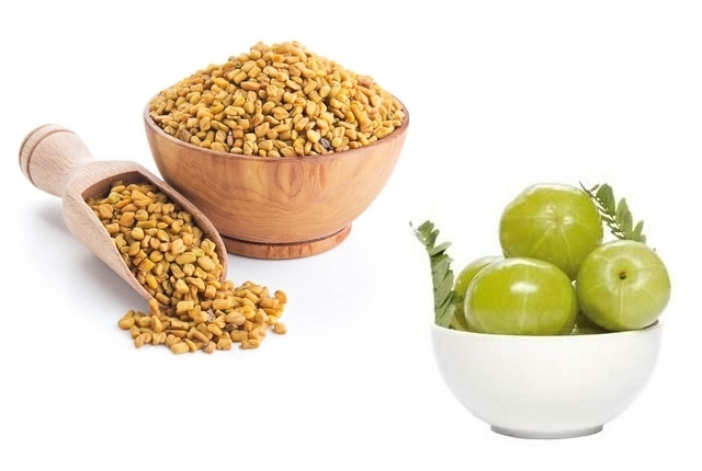 Indian Gooseberry And Fenugreek Seeds