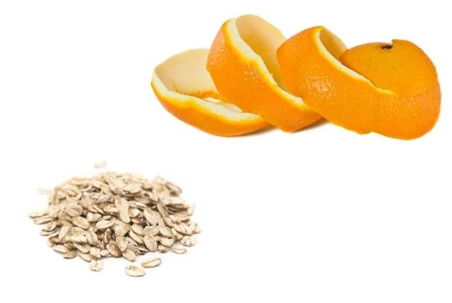 Orange Peels With Oatmeal
