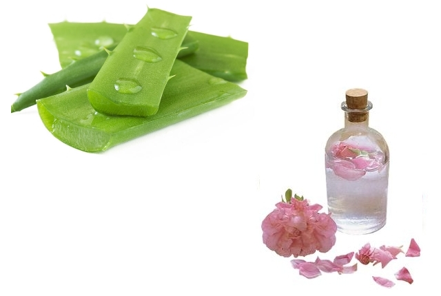 Aloe Vera Gel Rose Water For All The Skin Types
