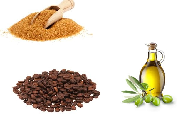 Coffee, Brown Sugar And Olive Oil Pack