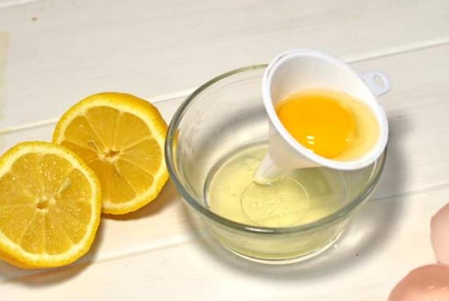 Egg White And Lemon Face Mask