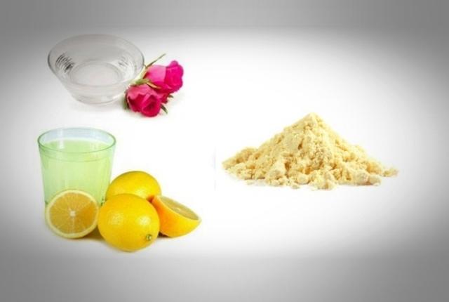 Gram Flour, Rose Water And Honey