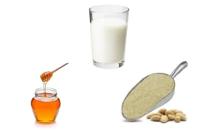 Milk Almond Powder Honey Pack