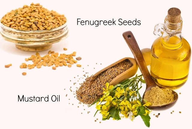 Mustard Oil And Fenugreek Seed Mask