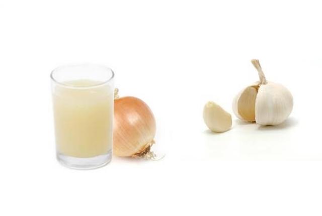 Onion And Garlic Juice Mask