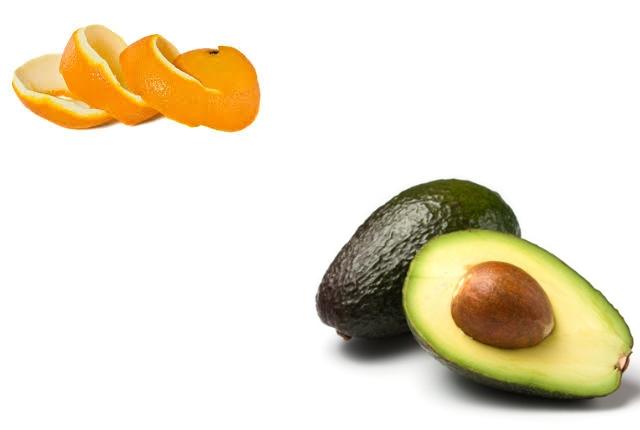 Orange Peel With Avocado