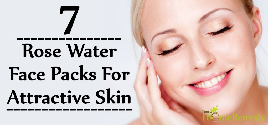 Rose Water Face Packs For Attractive Skin