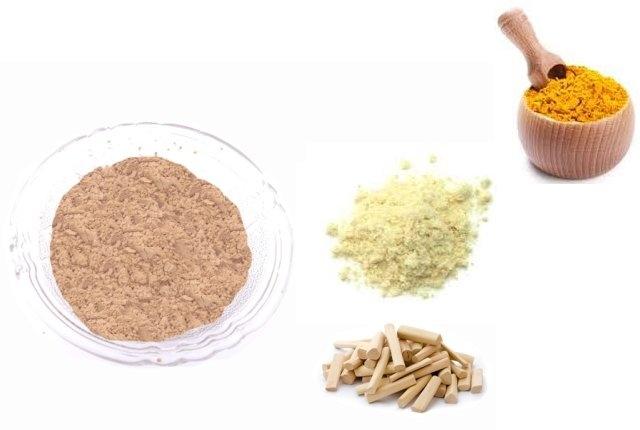 Sandalwood, Gram Flour And Turmeric Pack