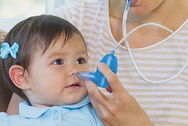 Use Nasal Saline For Flushing Out Baby's Stuffy Nose