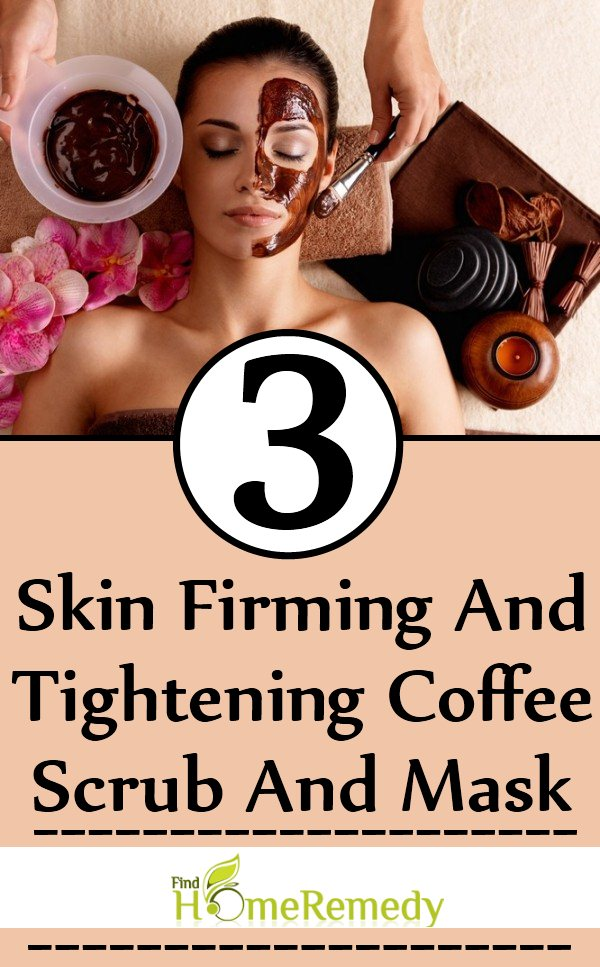 Skin Firming And Tightening Coffee Scrub And Mask