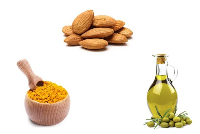 Almond And Turmeric And Olive Oil