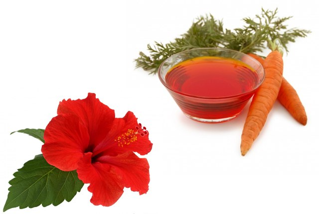 Carrot Oil And Hibiscus Hair Mask