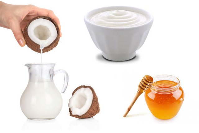 Coconut Milk, Yogurt, Honey Shampoo