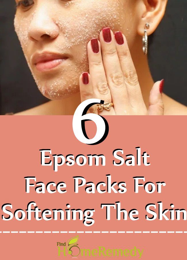 Epsom Salt Face Packs For Softening The Skin