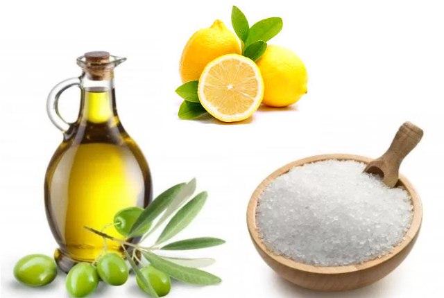 Epsom Salt, Olive Oil, And Lemon