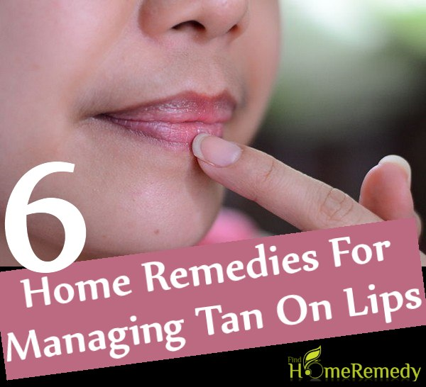 Home Remedies For Managing Tan On Lips