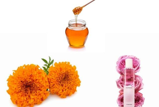 Marigold Mask Rose Water And Honey Mask