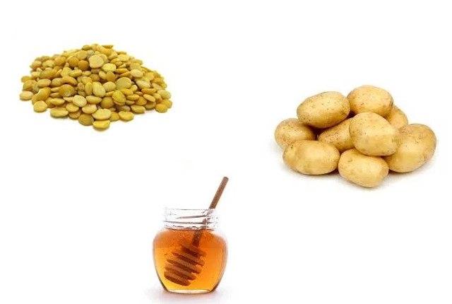 Potato Juice, Yellow Lentils And Honey Mixture