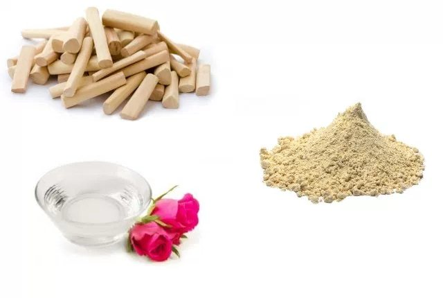 Sandalwood Powder With Gram Flour And Rosewater
