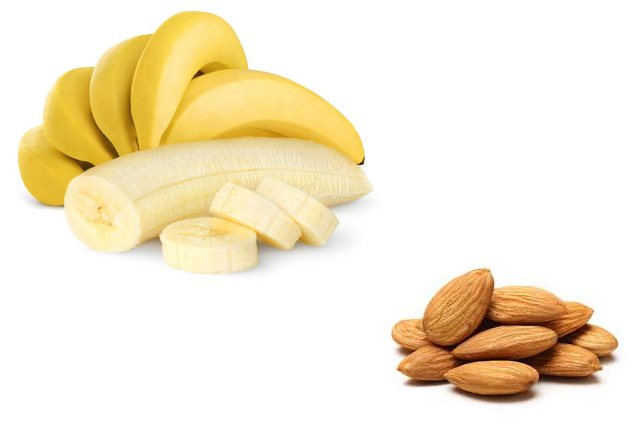 Banana And Almonds