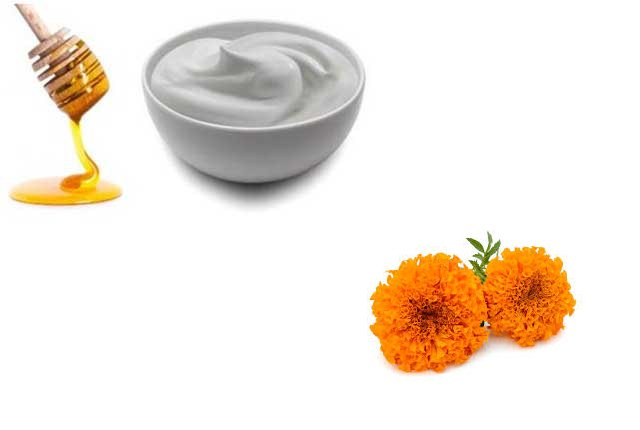 Marigold With Milk Cream And Honey