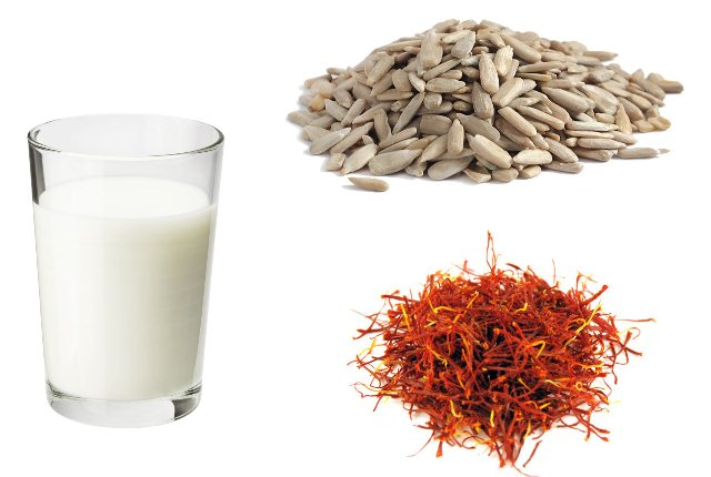 Saffron, Milk And Sunflower Seeds Pack