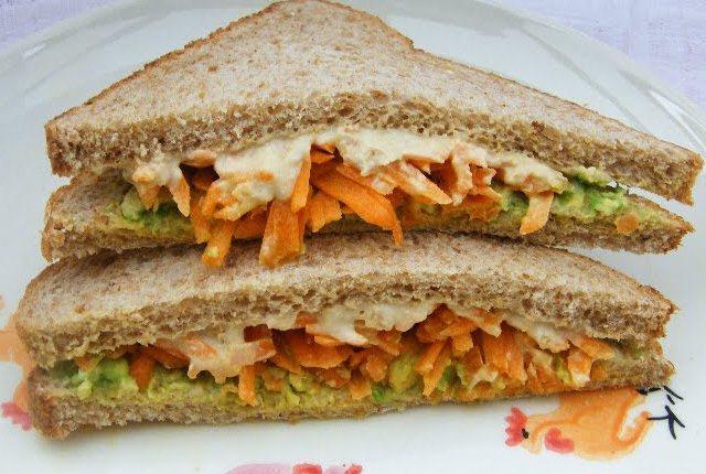 Carrot Tomato Sandwiches