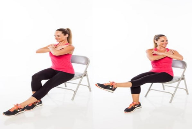 Chair Running Cardio Exercise