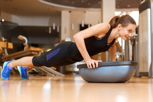 Use of Bosu ball increases the strength