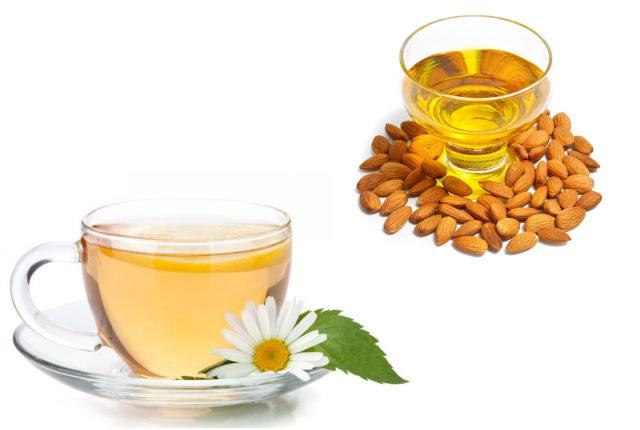 Chamomile Tea And Almond Oil Mask