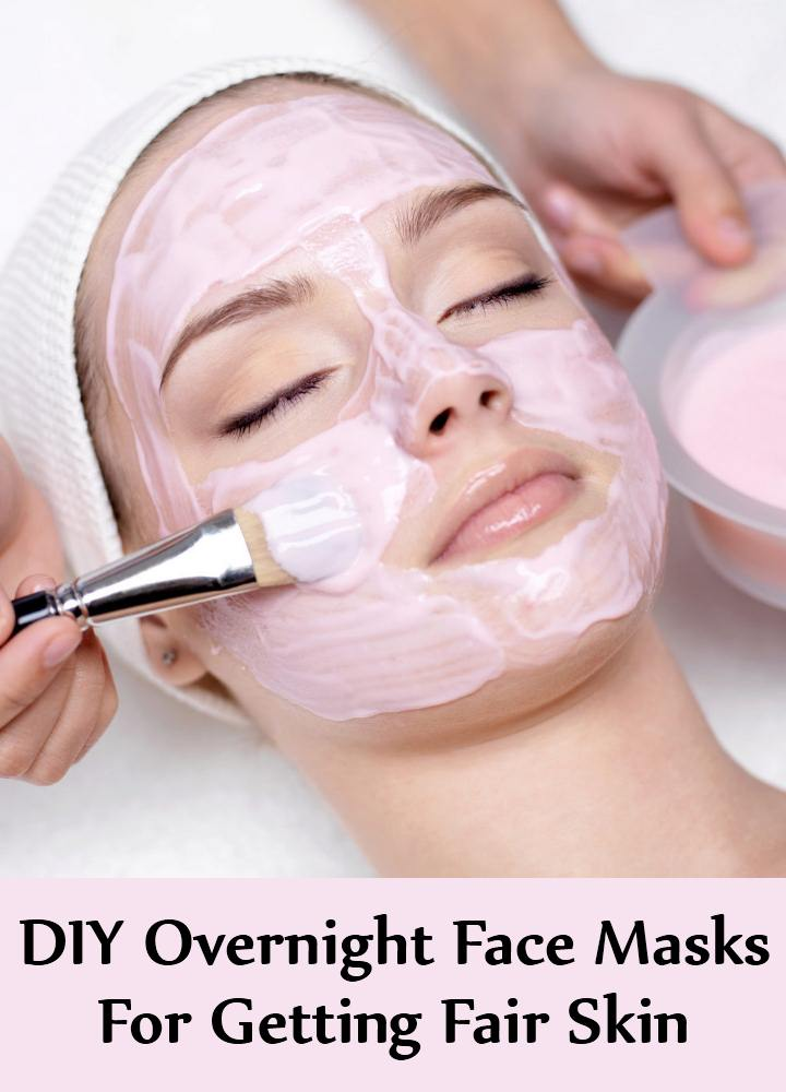 DIY Overnight Face Masks For Getting Fair Skin