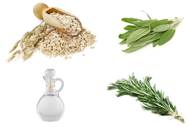 Oatmeal Bath With Sage, Rosemary And Vinegar
