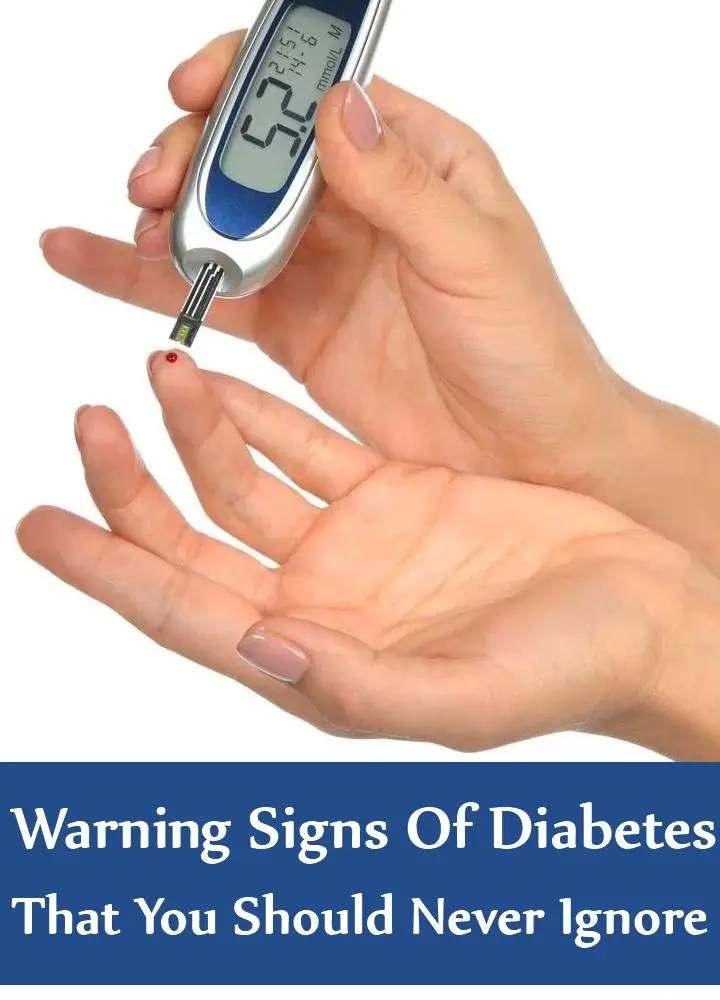 5 Warning Signs Of Diabetes That You Should Never Ignore